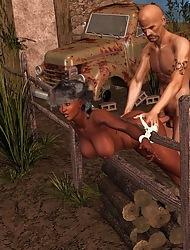 3d Interracial Shafting