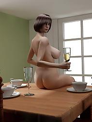 Nude Ladies Back 3D